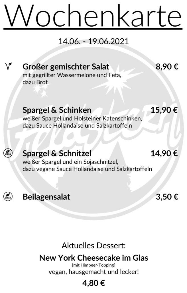 Feldstern Hamburg Wochenkarte
